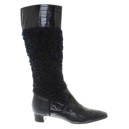 Dolce & Gabbana Boots made of fur and leather