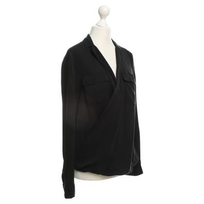 Michael Kors camicetta di seta in nero