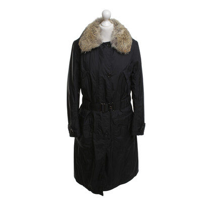 Prada Black coat with real fur