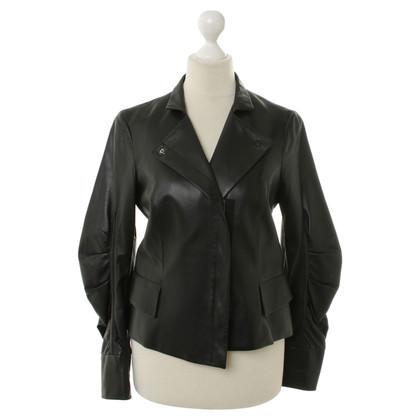Paule Ka Leren jas in zwart