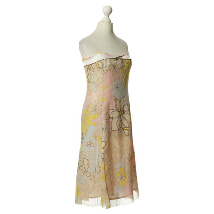 Christian Lacroix zijden jurk met bloemenprint