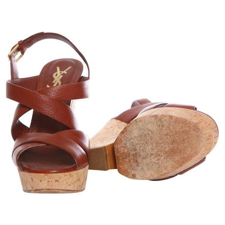 Sandaletten Saint Laurent Yves Yves Laurent Sandaletten Yves Braun Braun Saint qFwUIaYCFx