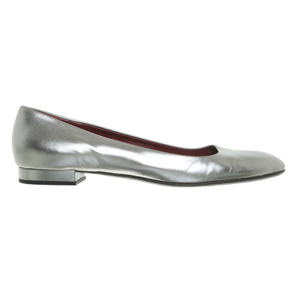 Prada Ballerina's in Metallic
