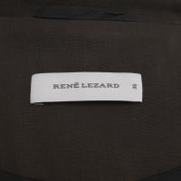 René Lezard Korte blazer in bruin