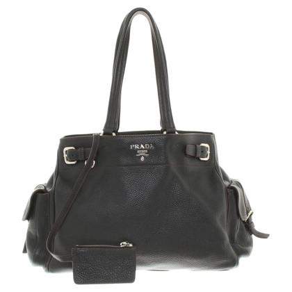 Prada Handbag in dark brown
