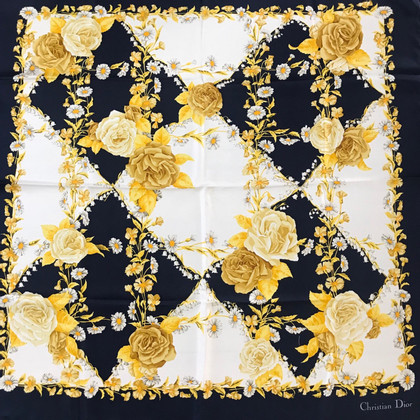Christian Dior Sciarpa di seta con stampa floreale