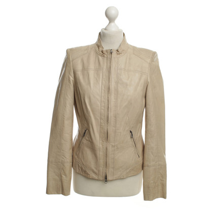 Riani Leather Jacket in Beige