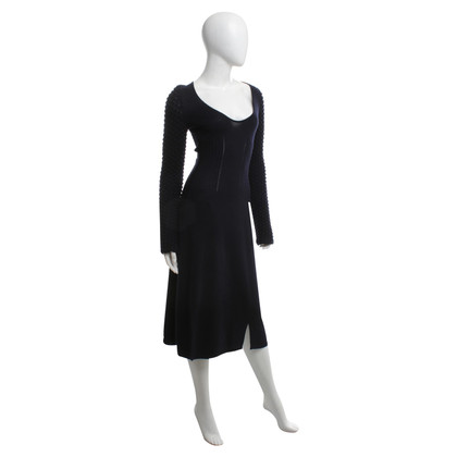 Jil Sander Strickkleid in Dunkelblau