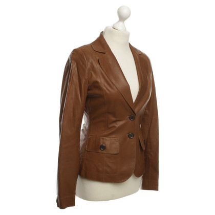 Hugo Boss Leerblazer in Tan