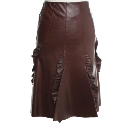 Roberto Cavalli skirt made of leather