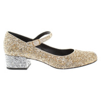 Saint Laurent Pumps mit Glitzerbesatz