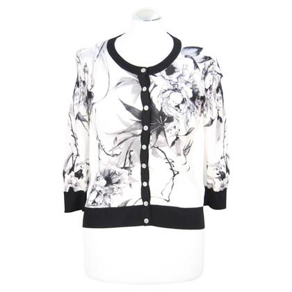 Karen Millen Floral sweater in black and white