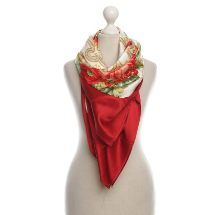 Nina Ricci Silk scarf with a floral pattern