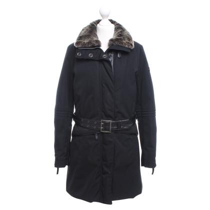 Peuterey Manteau avec col de fourrure