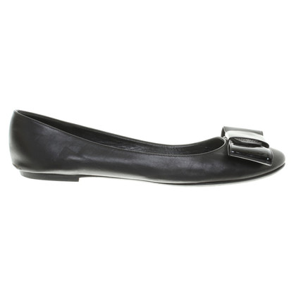 Louis Vuitton Lederballerinas in Schwarz