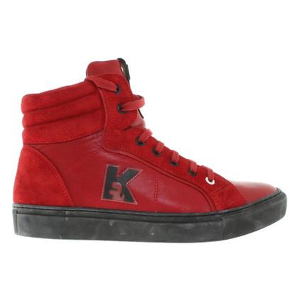 Karl Lagerfeld sneakers in pelle in rosso