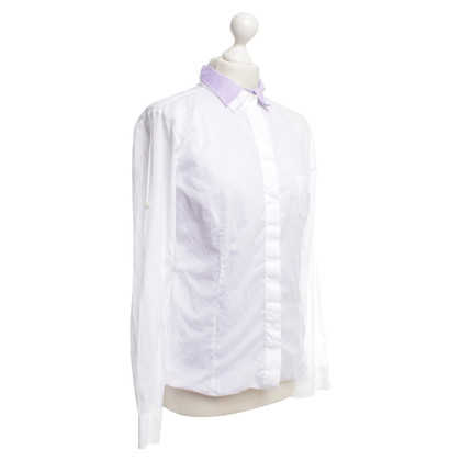 Brunello Cucinelli Blouse in wit / paars