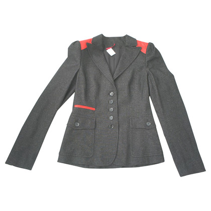 JOOP! Blazer with leather applications