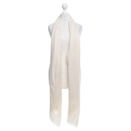 Loro Piana Sjaal in crèmewit