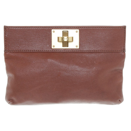 JOOP! Clutch aus Leder in Braun