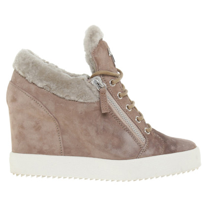 Giuseppe Zanotti Wedges with real fur