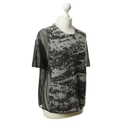 Alexander Wang Patterned shirt in a material mix