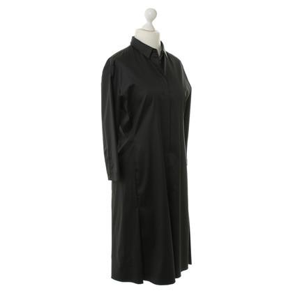 Jil Sander Satin-Kleid in Schwarz