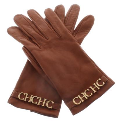 Carolina Herrera lederen handschoenen