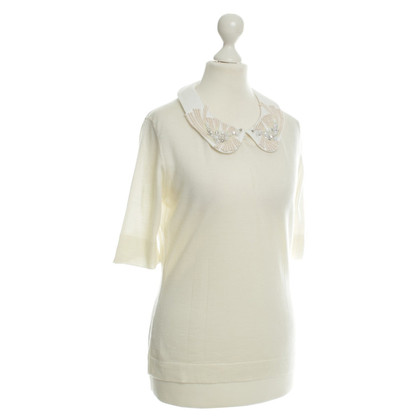 Thomas Rath Top with jewelry collar