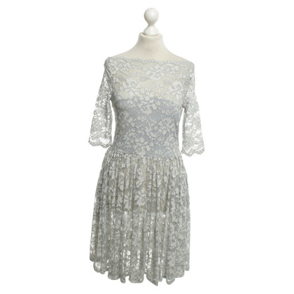 Ganni gray lace dress