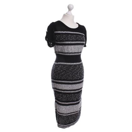 Escada Knit dress in black and white