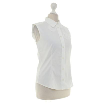 Prada Camicetta senza maniche in bianco