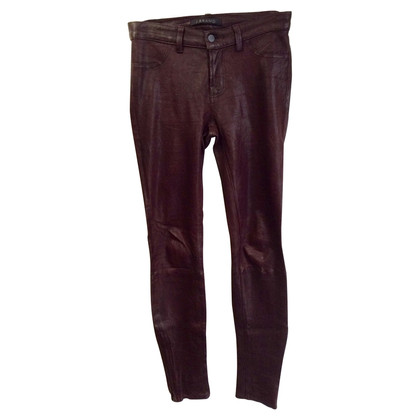 J Brand Lederen broek in Bordeaux