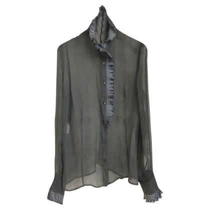 Armani Collezioni Blouse with grey silk