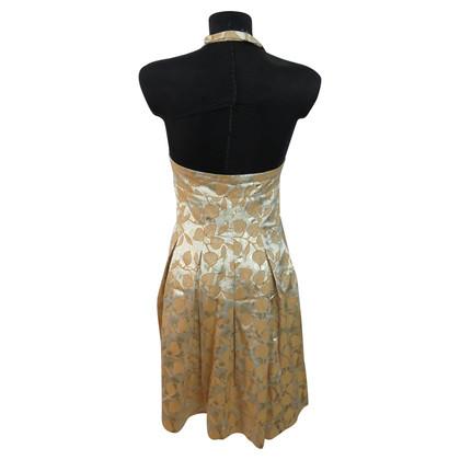 Moschino Cheap and Chic Goud-gekleurde cocktail jurk