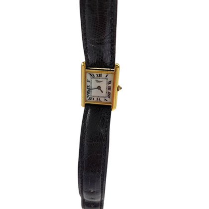 "Chopard Clock ""Chopard tank 18 K Gold"""