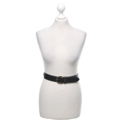 Moschino Leather riem in zwart