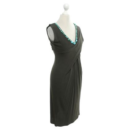 Blumarine Dress in khaki / turquoise