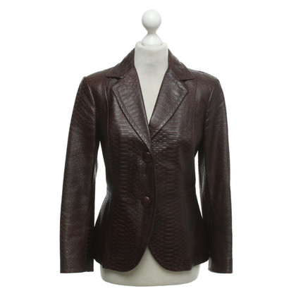 Max Mara Leather jacket in reptile look