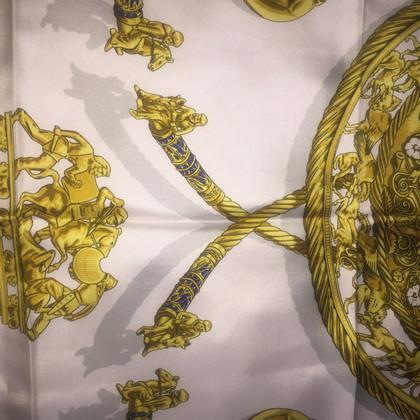 Hermès Les Cavaliers D'Or  silk scarf