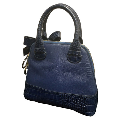 Paule Ka Blue leather handbag