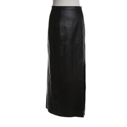 Marc Cain Leather skirt in midi length
