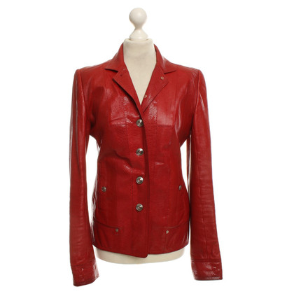 Christian Dior Leather jacket in red