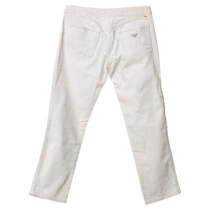 Armani Jeans 7/8 Hose in Weiß
