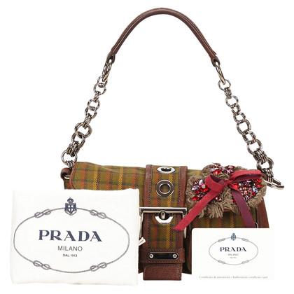 Prada Wool Shoulder Bag