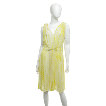 Strenesse Blue Silk dress in lemon yellow