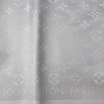 Louis Vuitton Monogram-Shine-Tuch in Silber/Grau