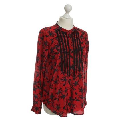 Zadig & Voltaire Zijden blouse in rood/zwart