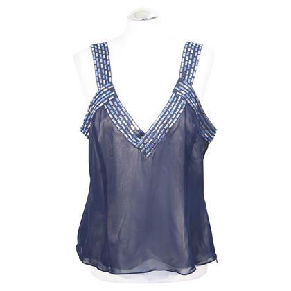 Amanda Wakeley Straps top in dark blue