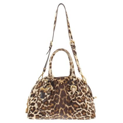 Prada Handtasche mit Leoparden-Muster
